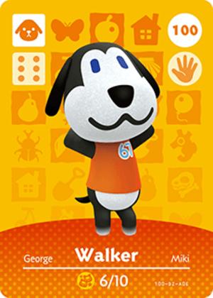 Walker amiibo card