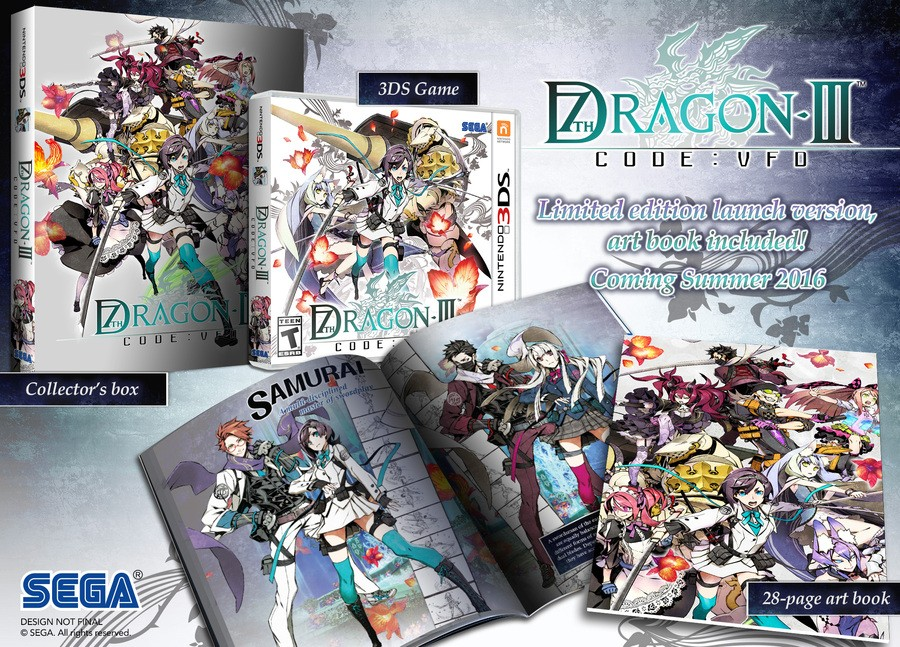 This 7th Dragon III Code: VFD launch edition is rather nice