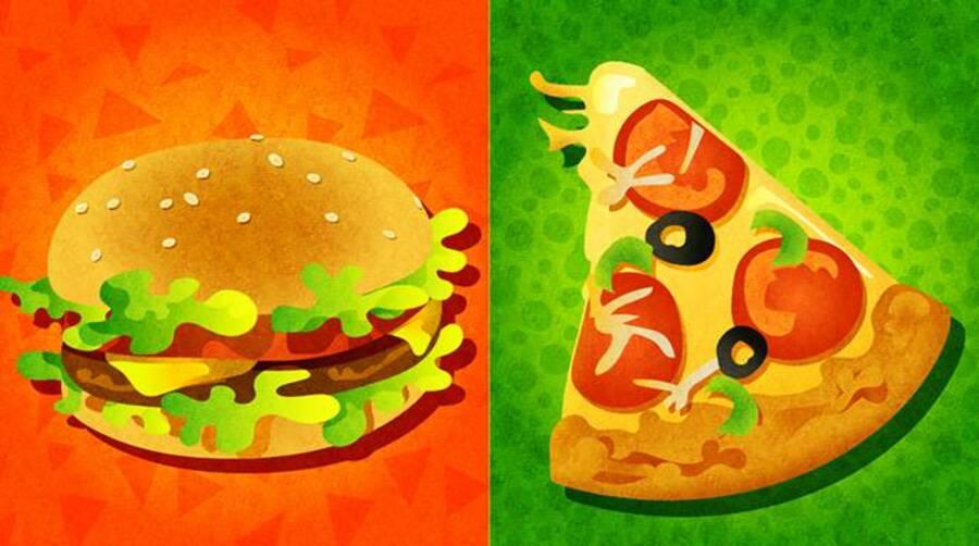 Hamburger vs. Pizza
