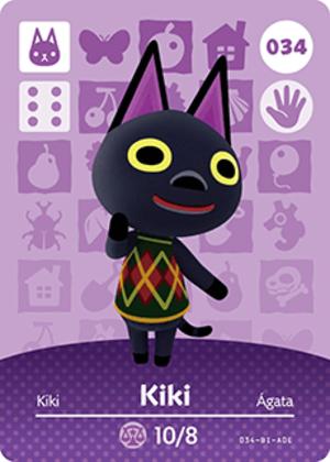 Kiki amiibo card