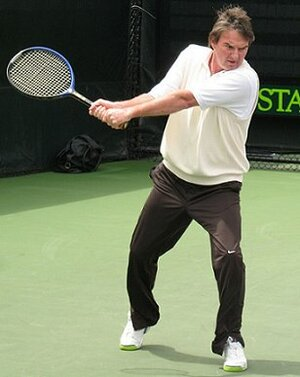 How about a match against aging Jimmy Connors?  Good luck.