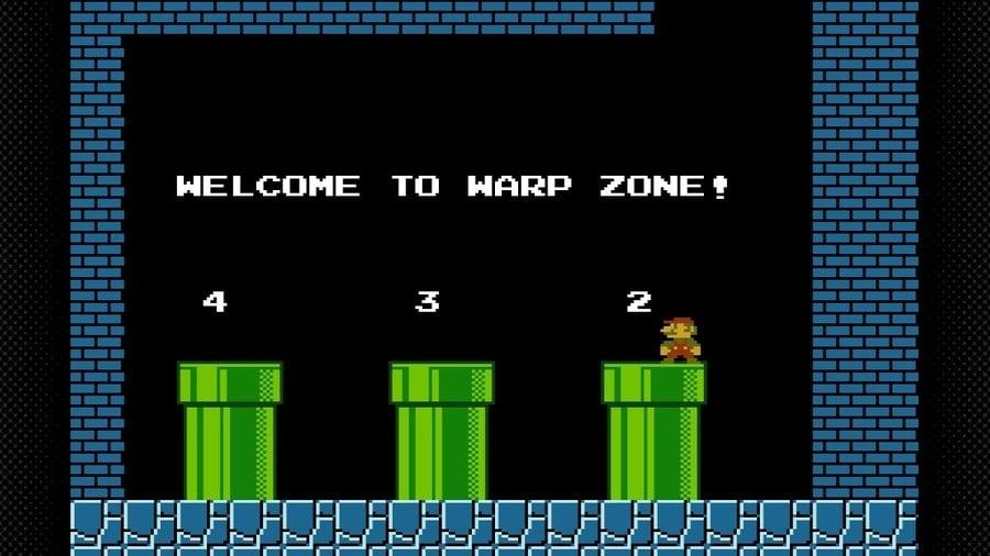 The Warp Zone as seen in Super Mario Bros.