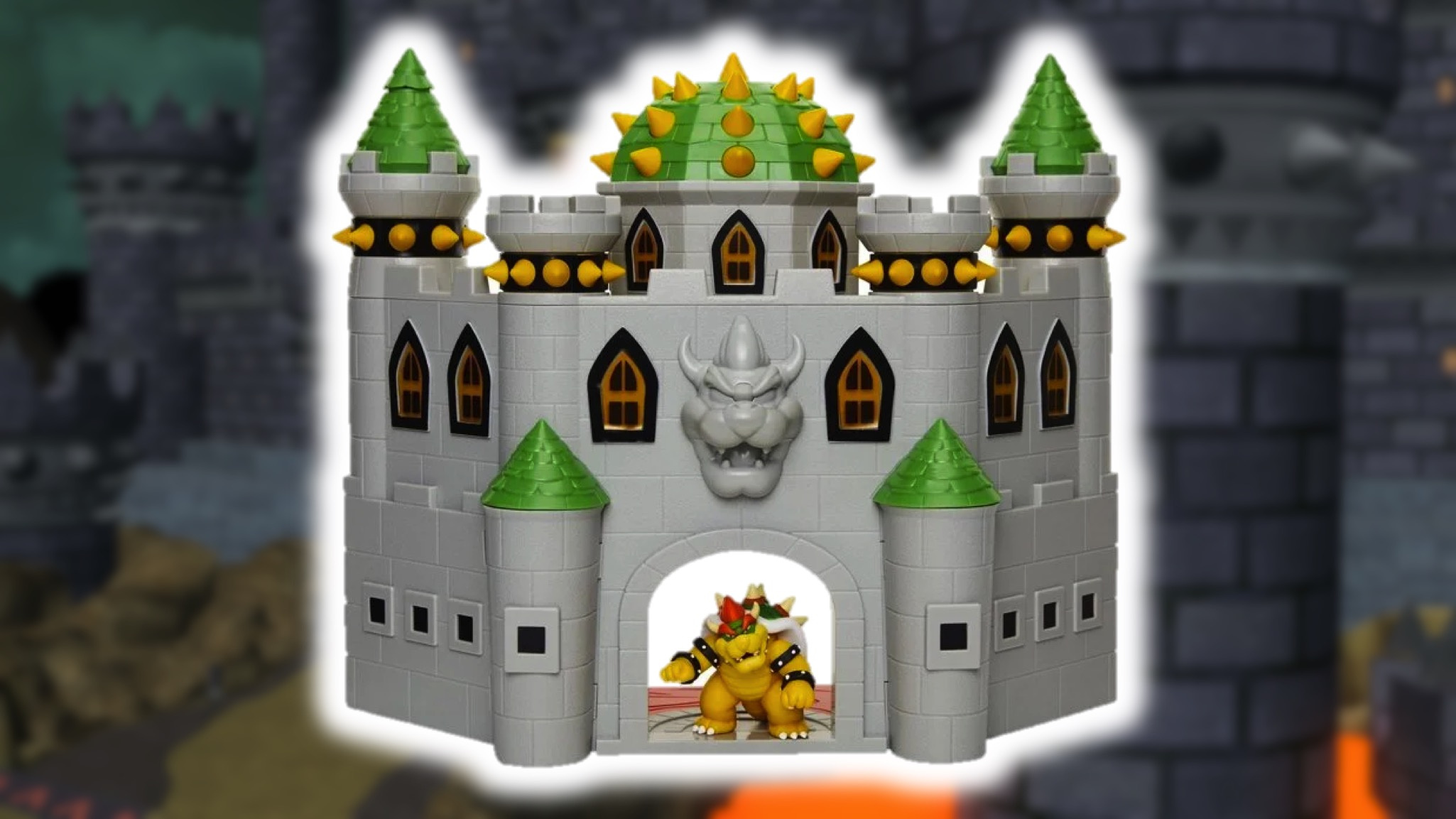 This Bowser S Castle Playset Features Super Mario Sounds And