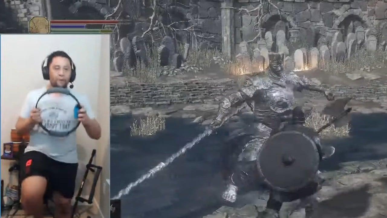 Aleatorio: el usuario de Ring Fit Adventure descubre una forma saludable de jugar Dark Souls III 10