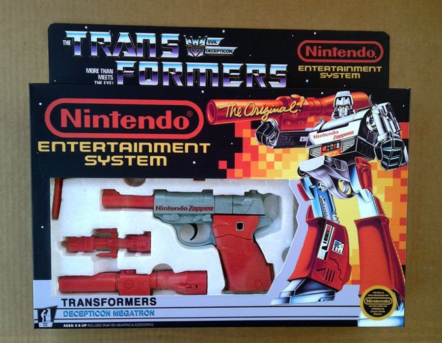 Nintendo Zapper Transformers Megatron