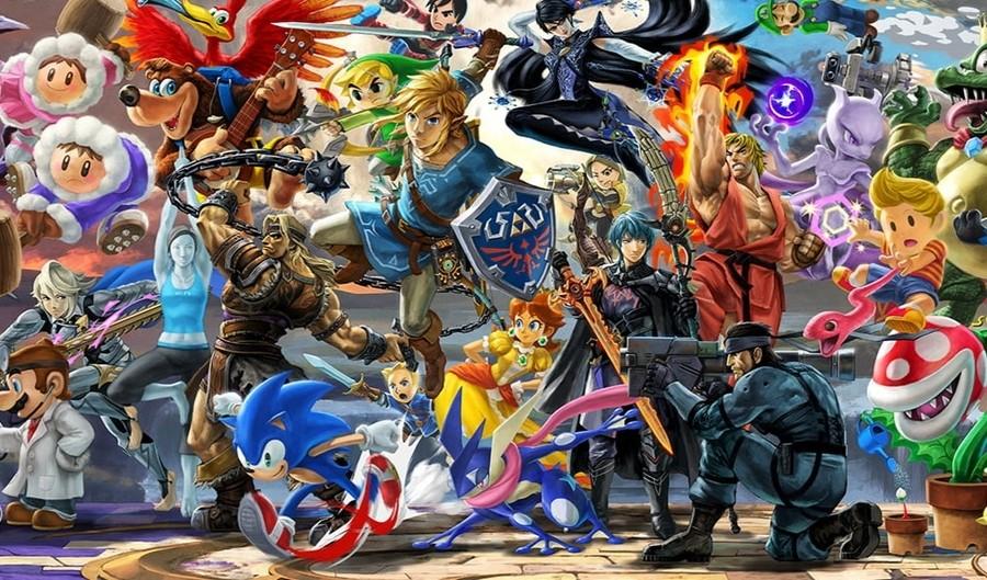 Smash Bros Mural Byleth