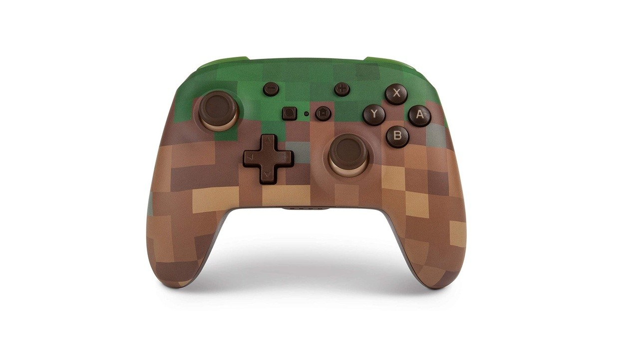 Powera Releasing Minecraft Enhanced Wireless Controller For Switch