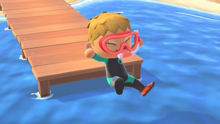 Animal Crossing New Horizons Diving