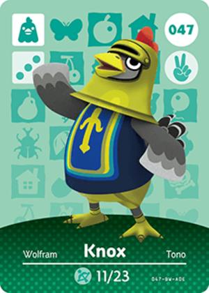 Knox amiibo card