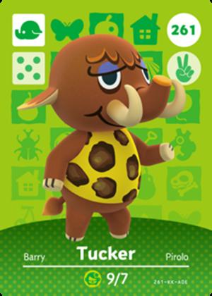 Tucker amiibo card