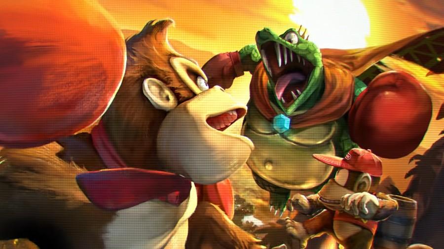 The DK crew in Smash Bros. Ultimate