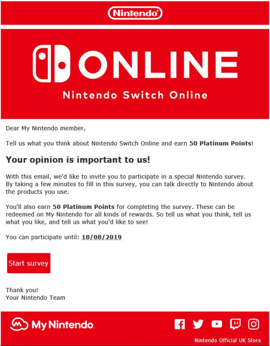 Nintendo Survey