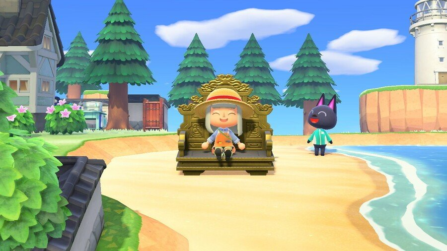 Crafted Golden Seat in Animal Crossing: New Horizons