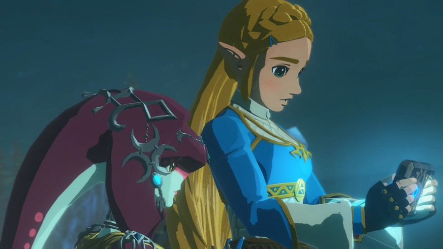 'I can't believe this game has an update already,' Zelda said, looking deeply into the screen of her fancy, custom Switch console'