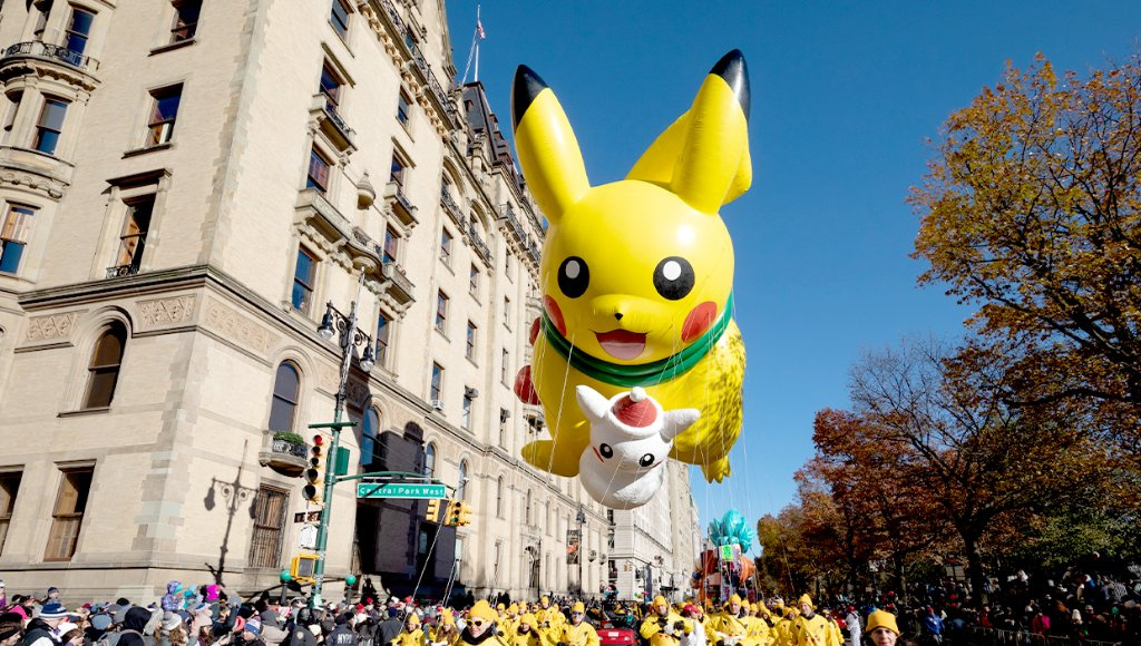 Pikachu Returns To This Year's Thanksgiving Day Parade