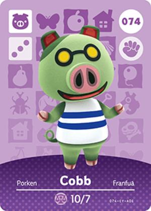 Cobb amiibo card