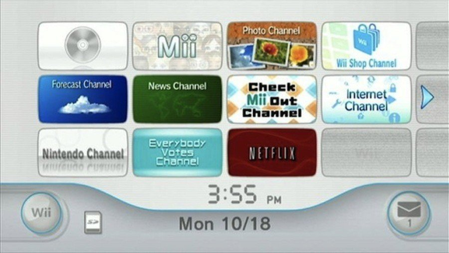 Tons of Wii Channels and there's nothing on