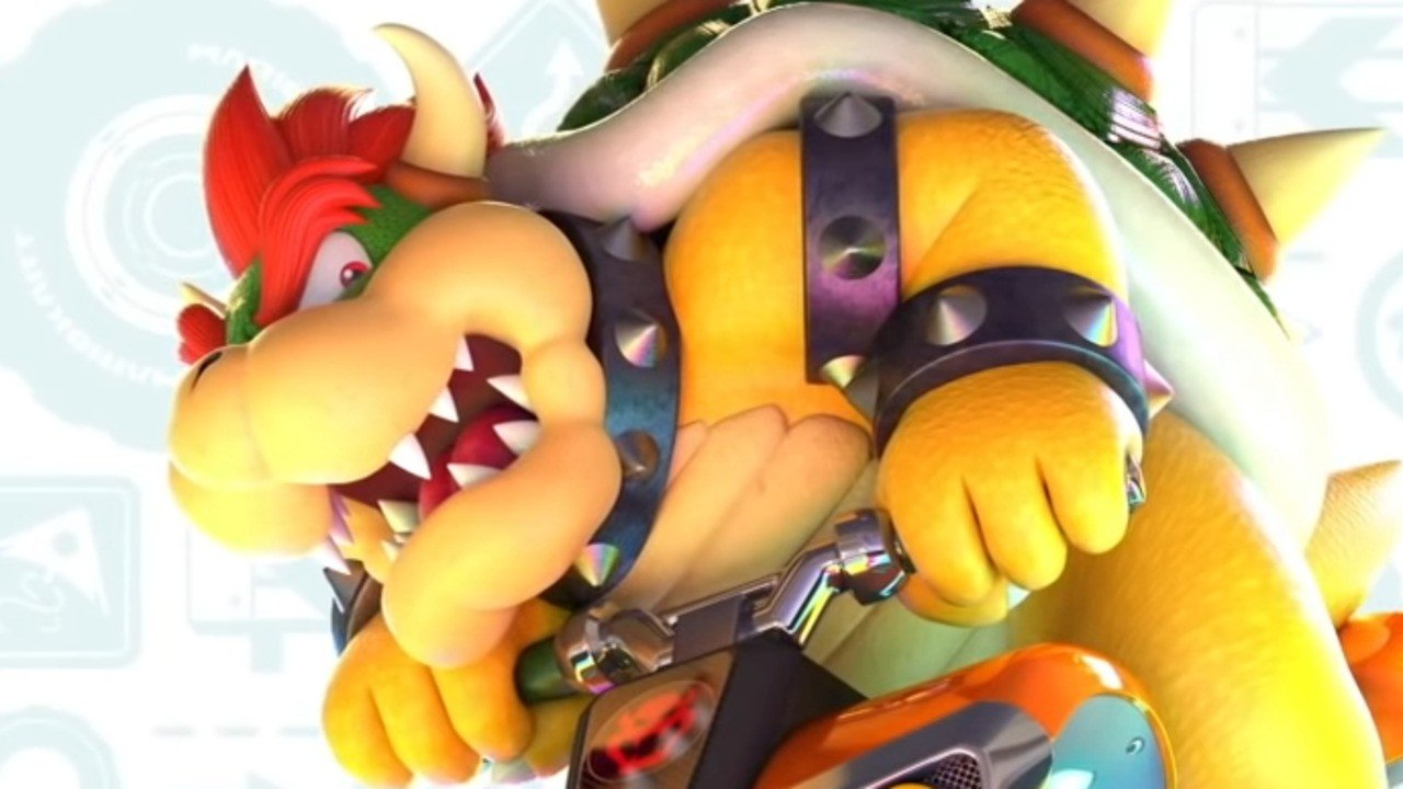 Random: Nintendo's Bowser Introduces His Parents To Mario Kart 8 On Switch