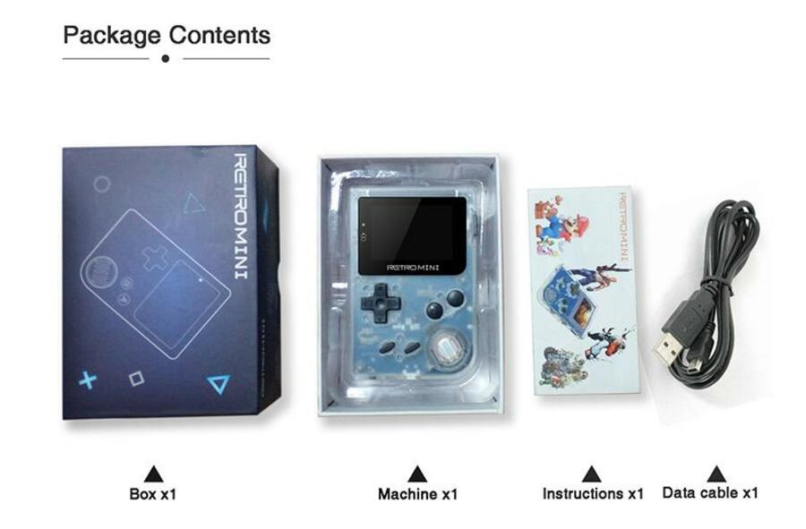 The SouljaBoy Mini featuring Super Mario and those famous PlayStation button designs on its packaging