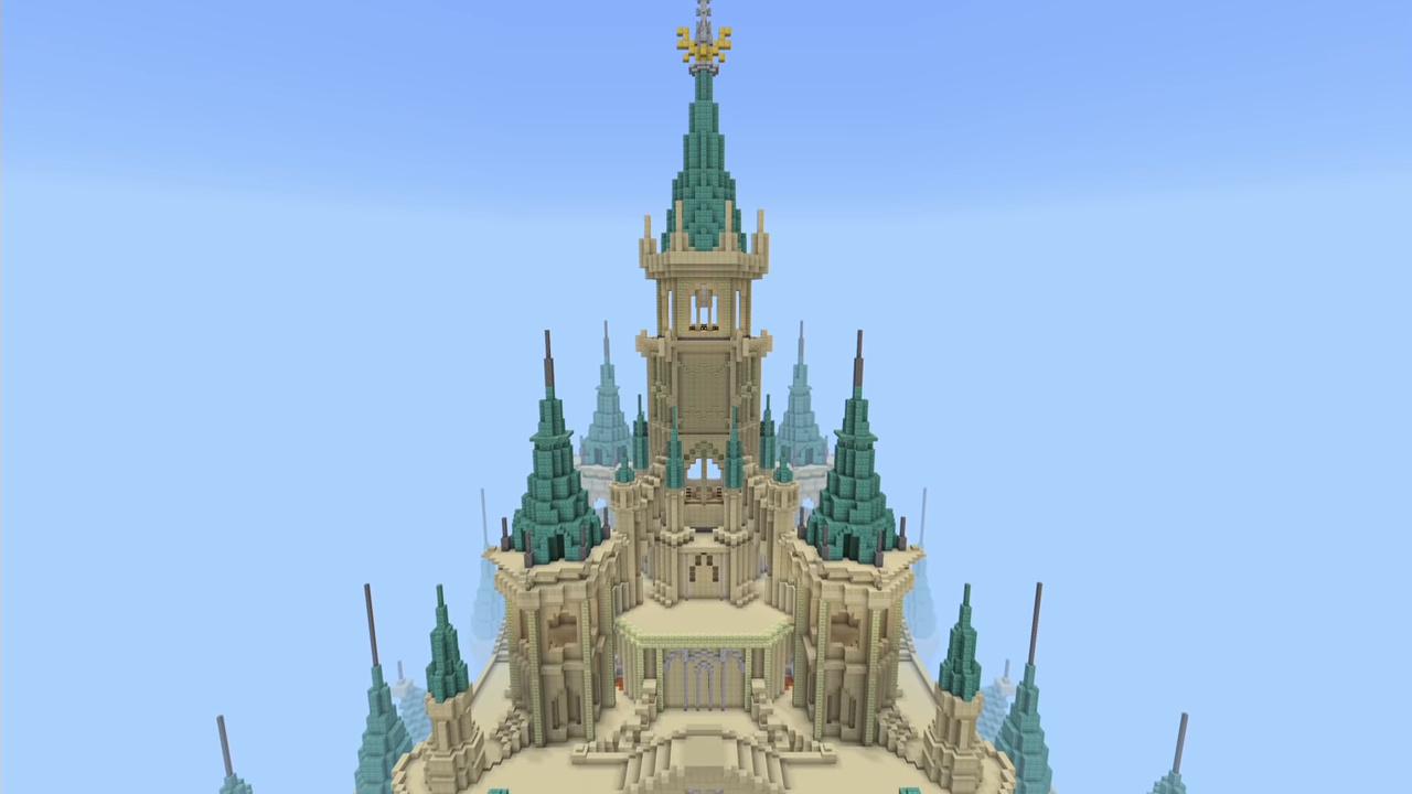Random: Hyrule Castle From The Legend Of Zelda: Breath Of The Wild Restored In Minecraft