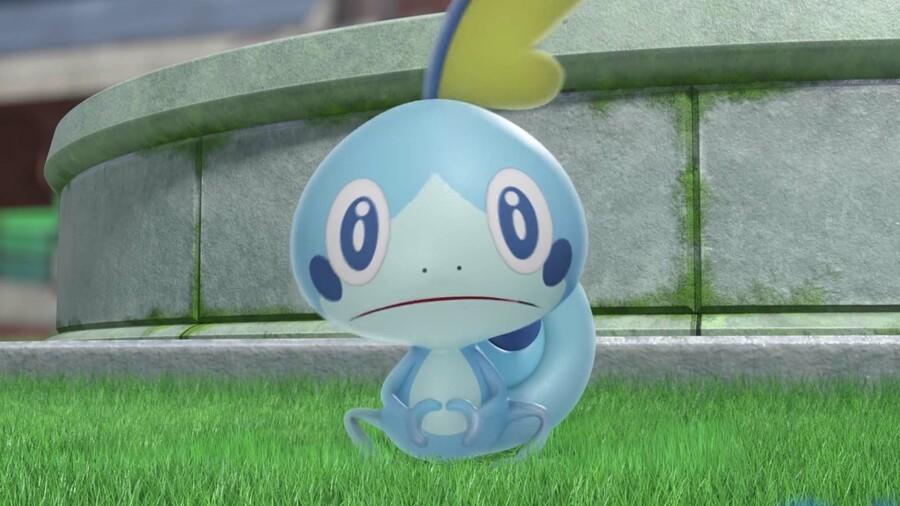 Sobble, a Pokémon players can obtain in Pokémon Sword and Shield.