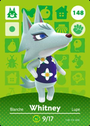 Whitney amiibo card