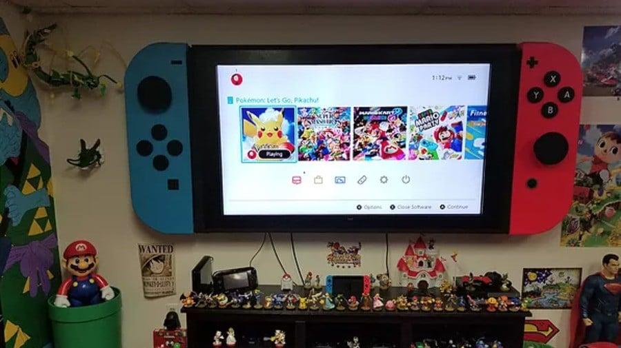 d4ca5049a09 Random  Fan Turns 65-Inch TV Into A Giant Nintendo Switch - Nintendo ...