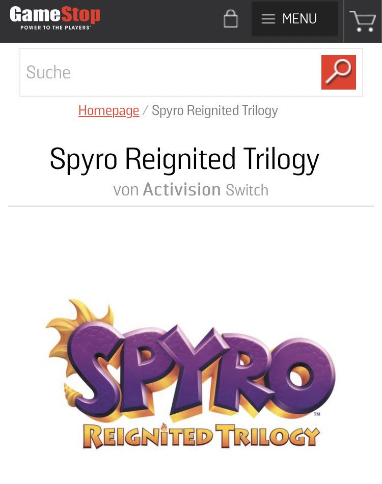 GameStop Lists Spyro Reignited Trilogy For August Release On