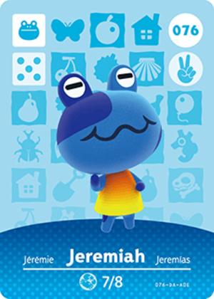 Jeremiah amiibo card
