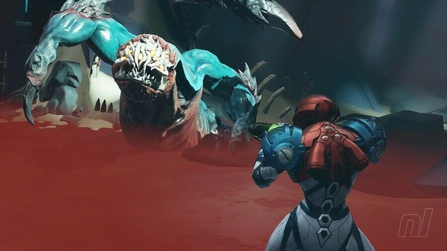 Metroid Dread Corpius Boss Battle