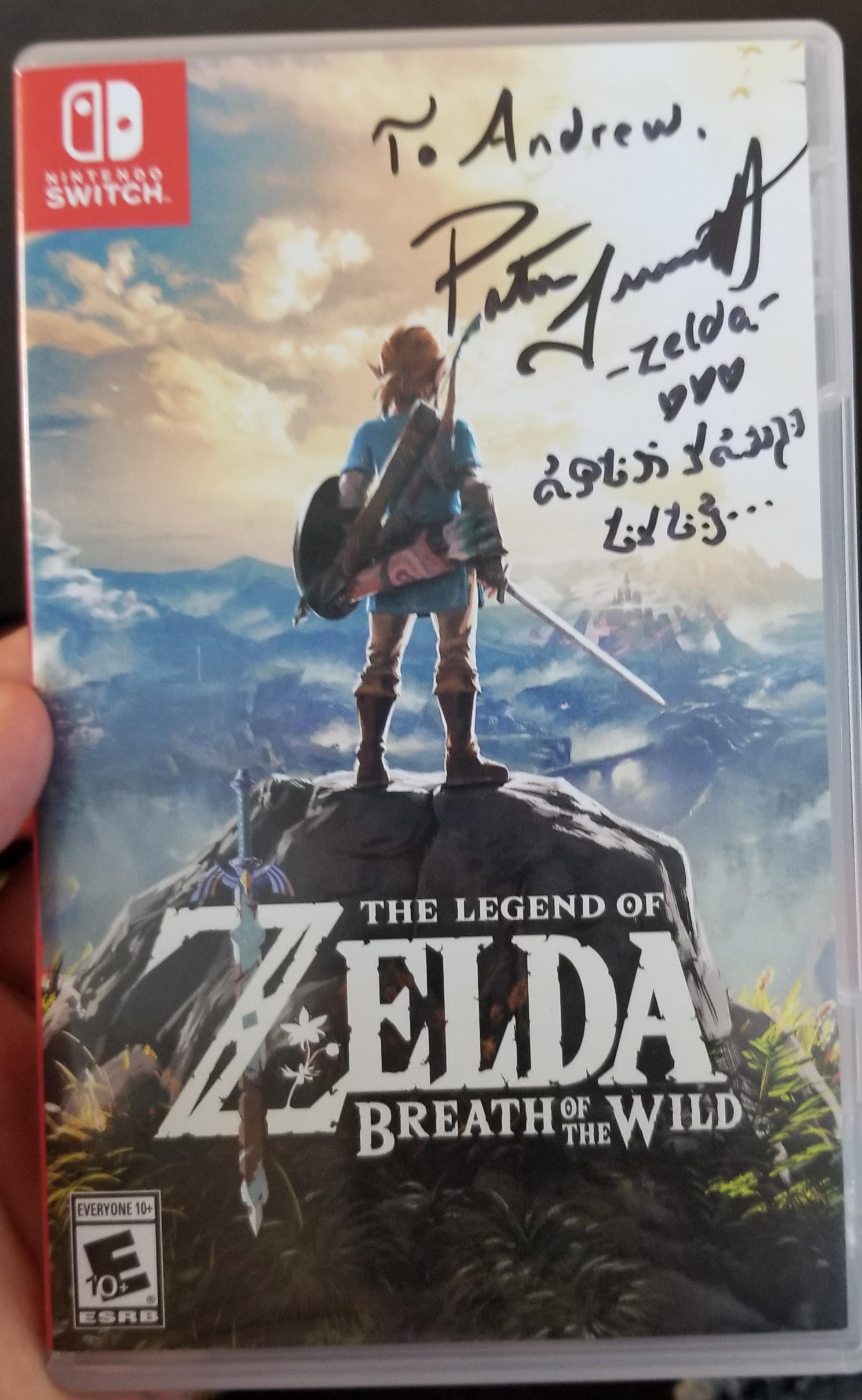Random: The Voice Of Zelda Signs Fan's Copy Of Breath Of The Wild In Hylian