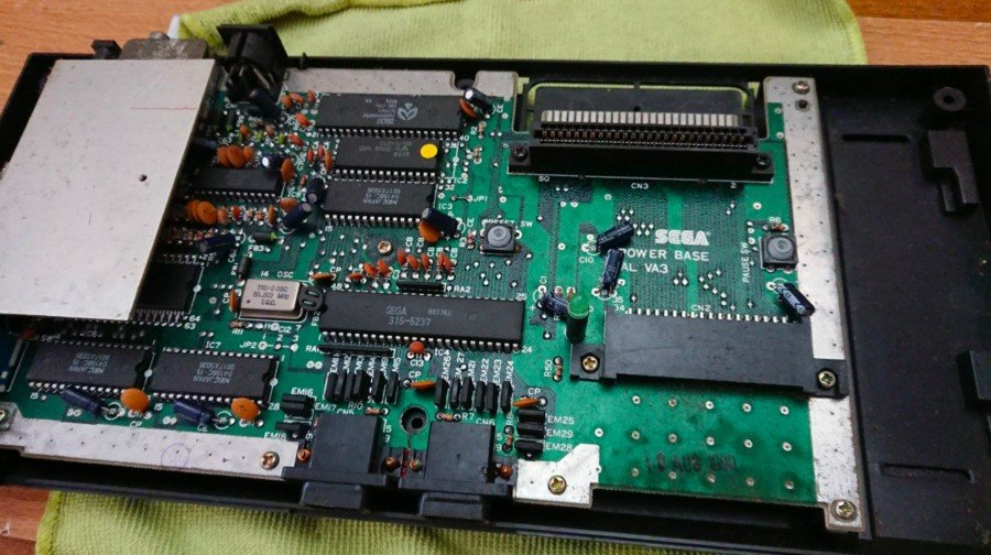 This Mk1 Master System has seen better days