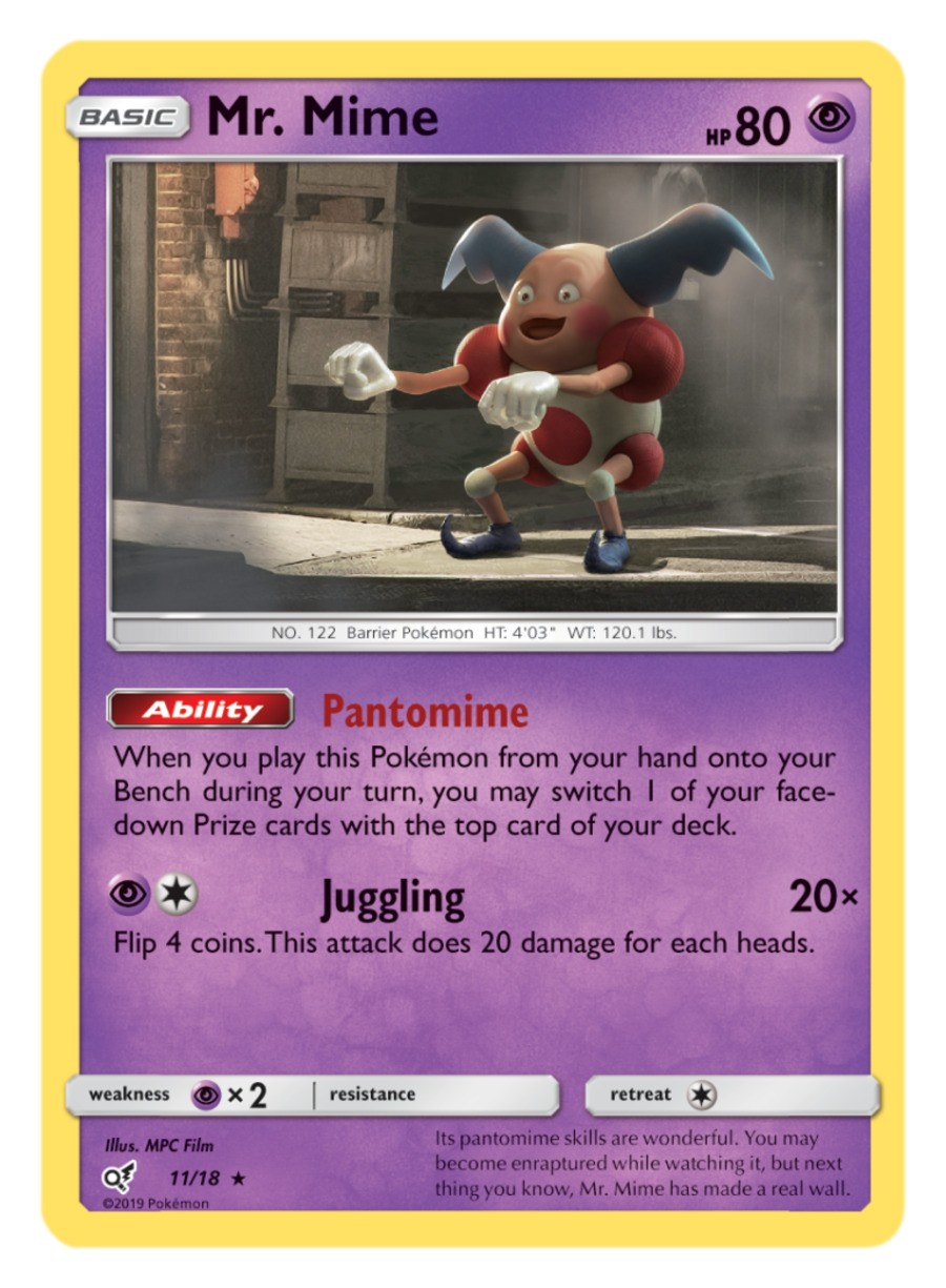 Pokémon TCG Detective Pikachu Mr. Mime PNG 768x1045
