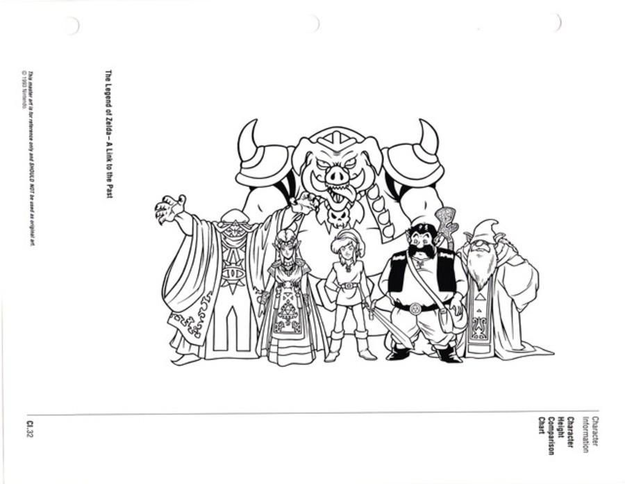Zelda Character Sizes