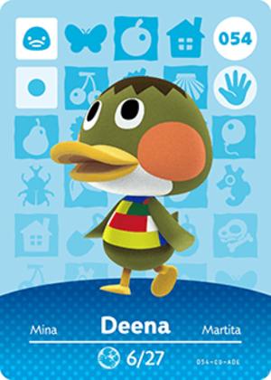 Deena amiibo card