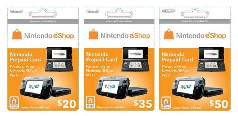 Nintendo Eshop Wii U 3 Ds Cards