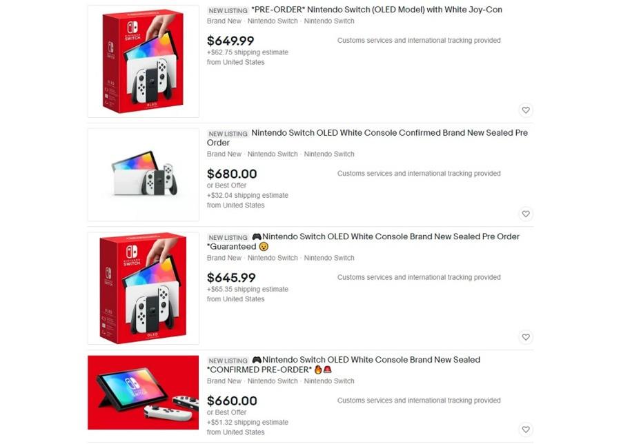 Switch OLED Ebay Listings Nintendo Life