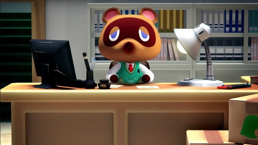 Tom Nook Animal Crossing Switch