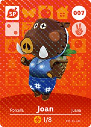 Joan amiibo card
