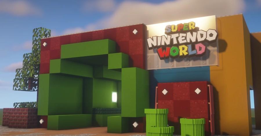 Minecraft x Super Nintendo World
