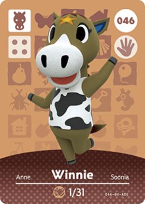 Winnie amiibo card