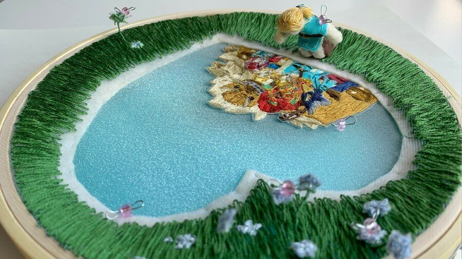 BOTW Lover's Pond embroidery