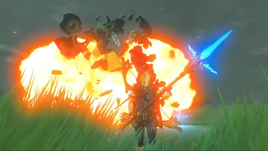 We do the cool-walking-away-from-explosions thing when we play too... Ahem.