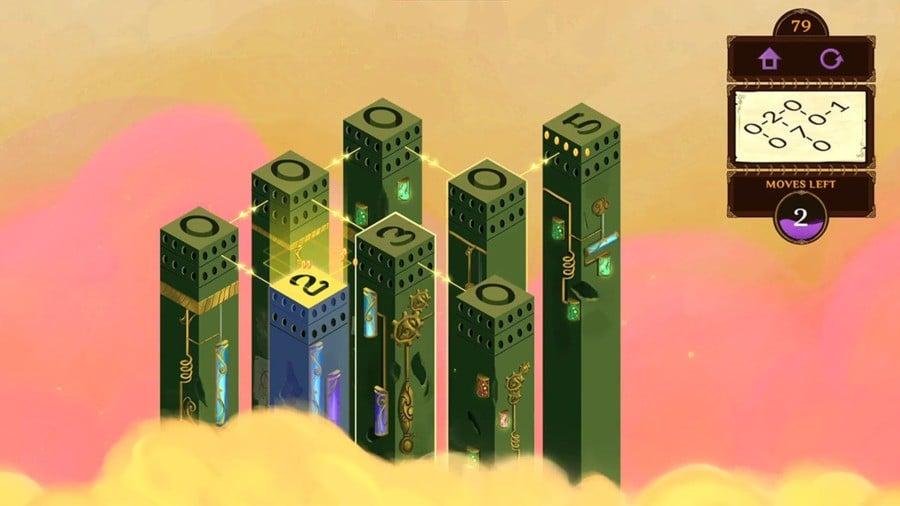 Mystic Pillars screenshot of puzzle