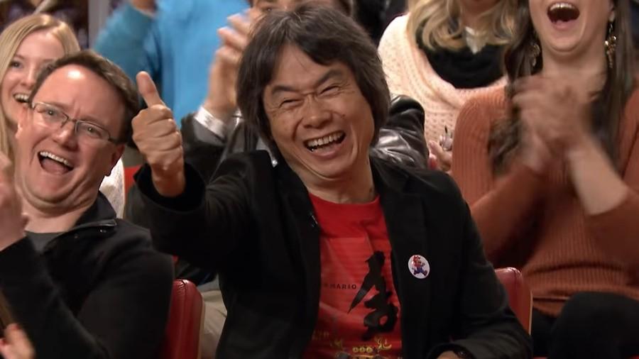 Miyamoto showing off Zelda BotW on The Tonight Show (2016)