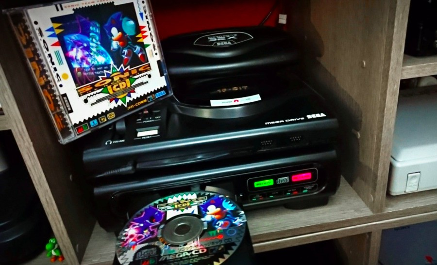 The Sega Mega CD is one of Lock's favourite systems – and one he's used to seeing for repair