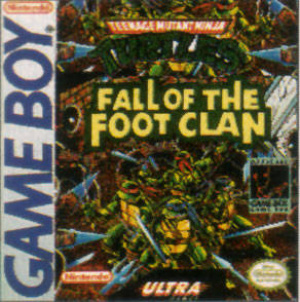 Original Gameboy Teenage Mutant Ninja Turtles TMNT Fall of the Foot Clan