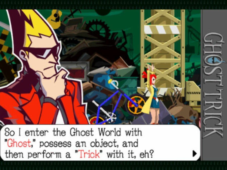"""Sissel describes how to play the game: own the item, then execute """"Tricks"""" With them"""