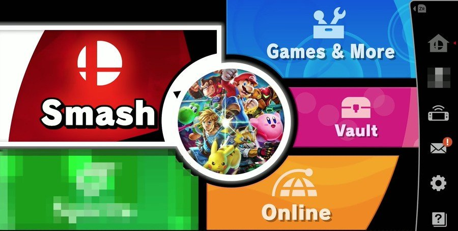 The Super Smash Bros. Ultimate main menu