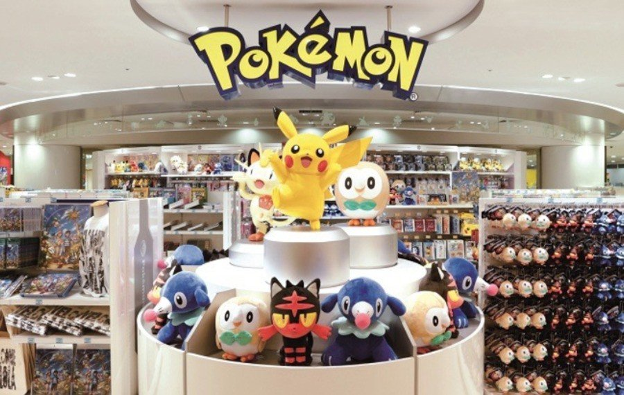 The Pokémon store found near JR Osaka Station in Japan. Will the UK store look like this?